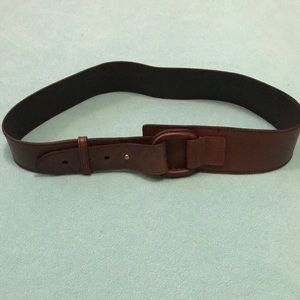 Accessories - Brown leather fashion belt